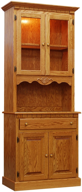 narrow hutch for dining room | Willow Valley Dining Room Narrow China Hutch WV4132 ...