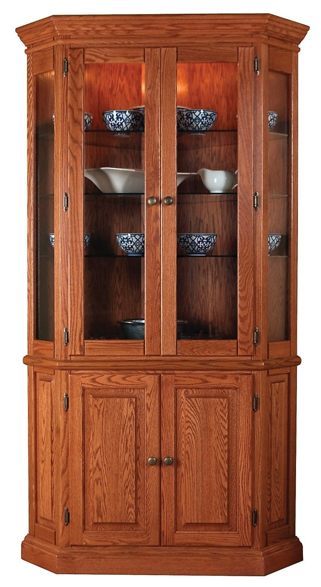 Genial Willow Valley Corner China Cabinet WV4147