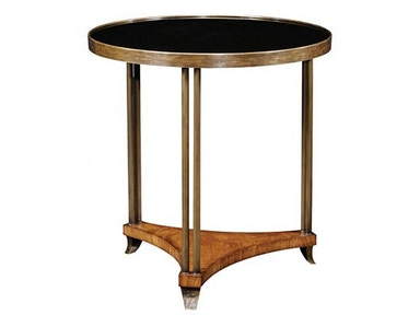 Emerson Bentley End Table with Black Glass 10145