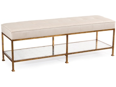 Showroom Specials Bench with Metal Base & Ottoman 2401-14