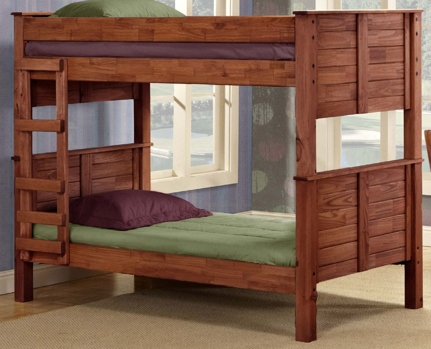 Pine Crafters Youth Bedroom Twin/Twin Post Bunk Bed 4018 At Hunteru0027s  Furniture
