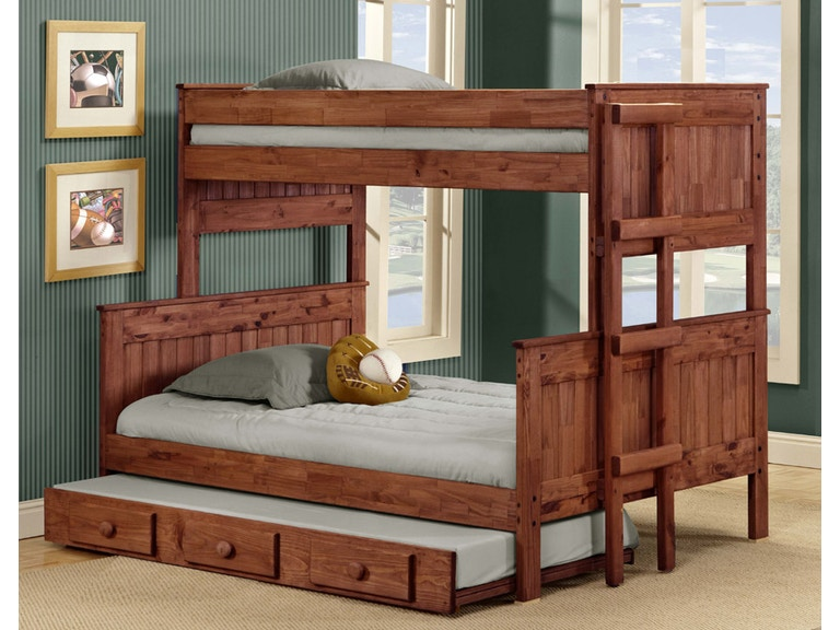 Pine Crafters Youth Bedroom Twin Full Stackable Bunk Bed