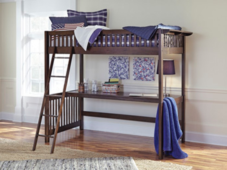 Ashley Furniture Youth Bedroom Strenton Twin Loft Bed with Desk B568 ...