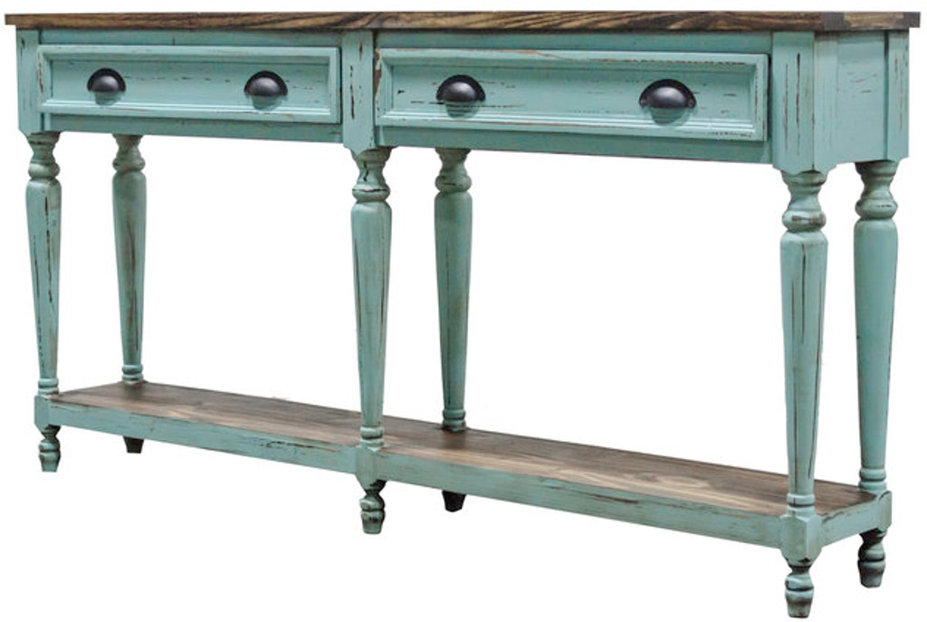 Turquoise Sofa Table