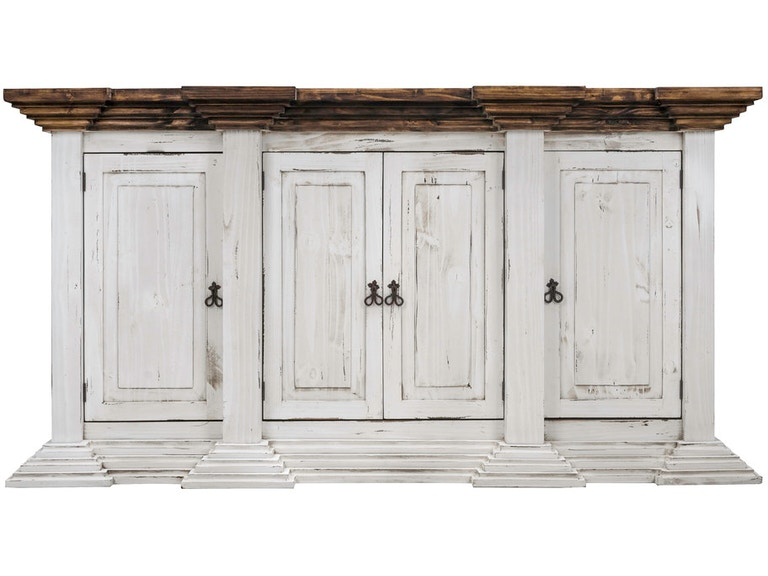 Antique White Greek 4 Door Console