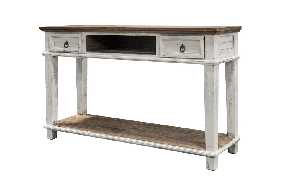 Rustic Imports Living Room Antique White Sofa Table Mo Cid 153