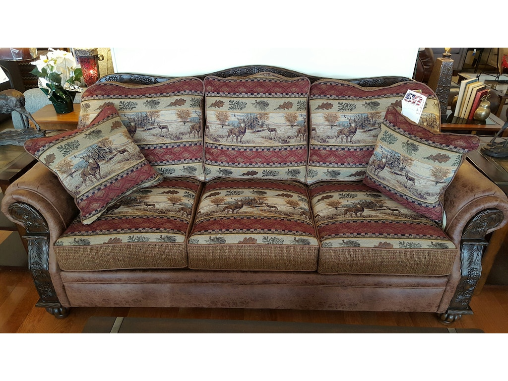 The marshfield living room made in the u s a upholstered sofa with matching chair ottoman and