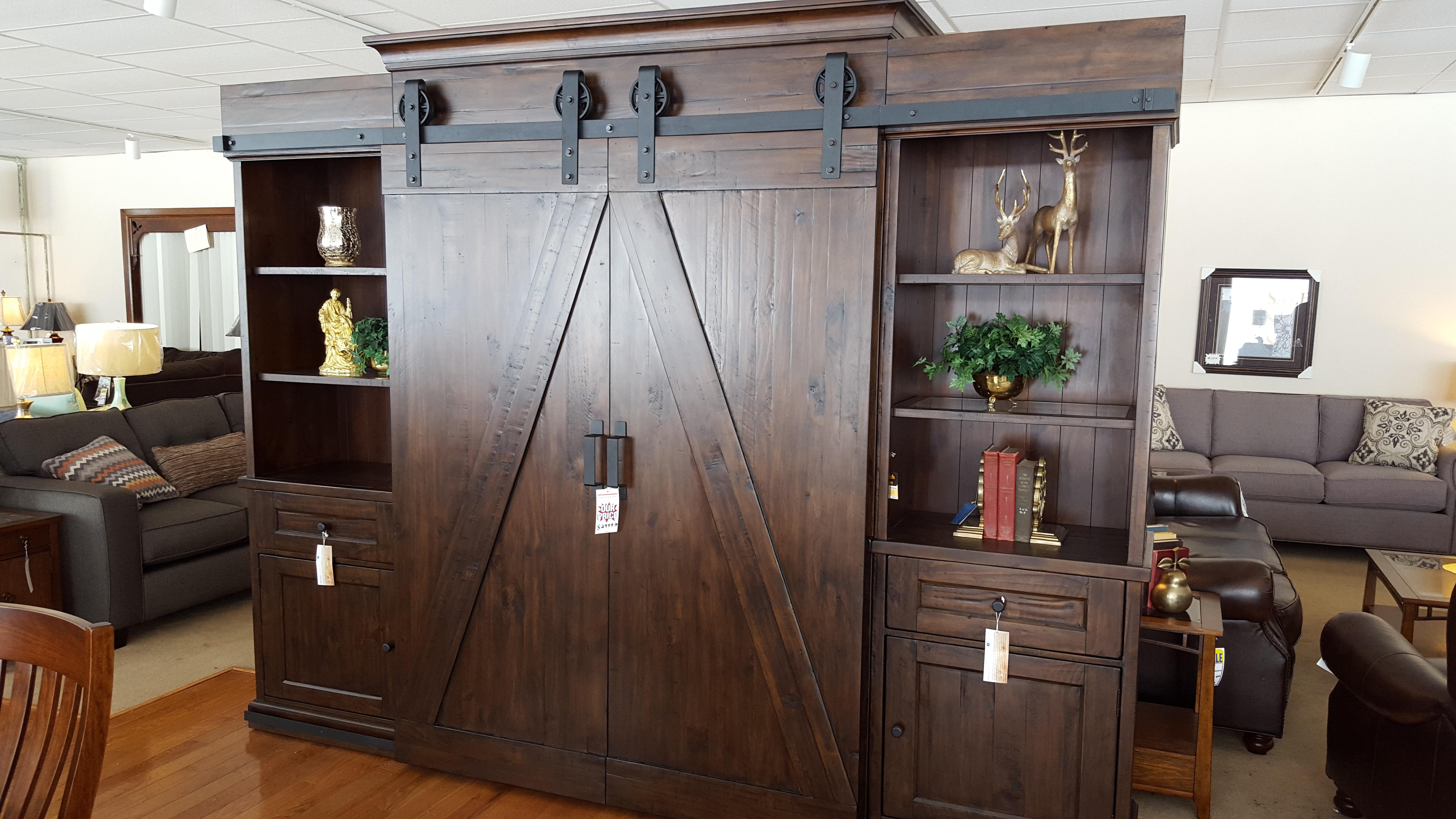 Inspirational Wood Barn Door Storage Cabinet