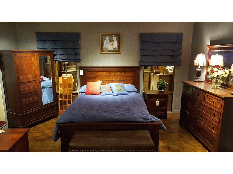 Troyer Ridge Rustic Cherry Amish Made Solid Wood Bedroom Set 2200b