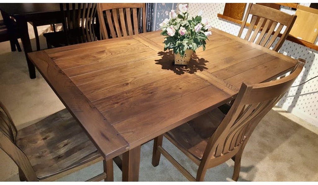 Trailways Amish-Made Rustic Hickory Dinning Room Set Sutter ...