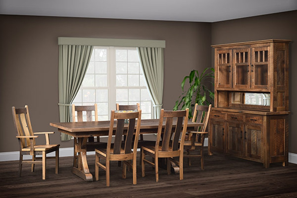 Urban Barnwood Furniture Amish-Made Dinning Room Set ...