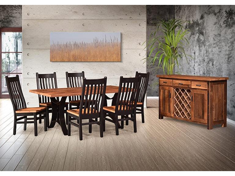 Urban Barnwood Furniture Amish Made Dinning Room Set Golden Gate1