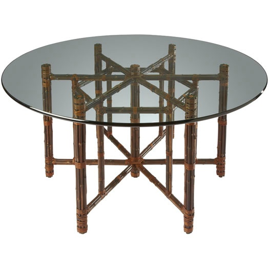 McGuire Hexagonal Dining Table On Black Bamboo (Base) MCG.BA 17