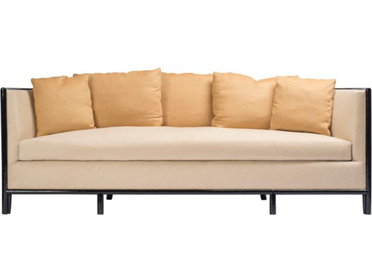 Mcguire Barbara Barry Lunette Sofa With Caned Back Mcg C 65c