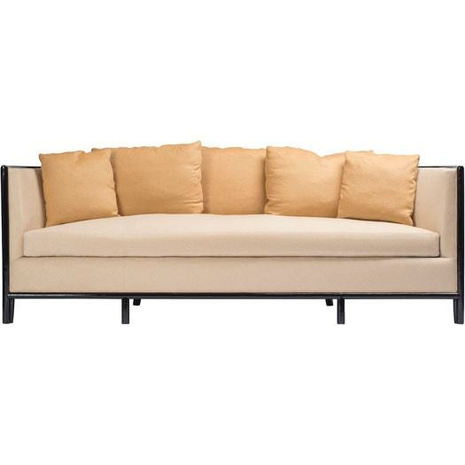McGuire Barbara Barry Lunette Sofa With Caned Back MCG.C 65C