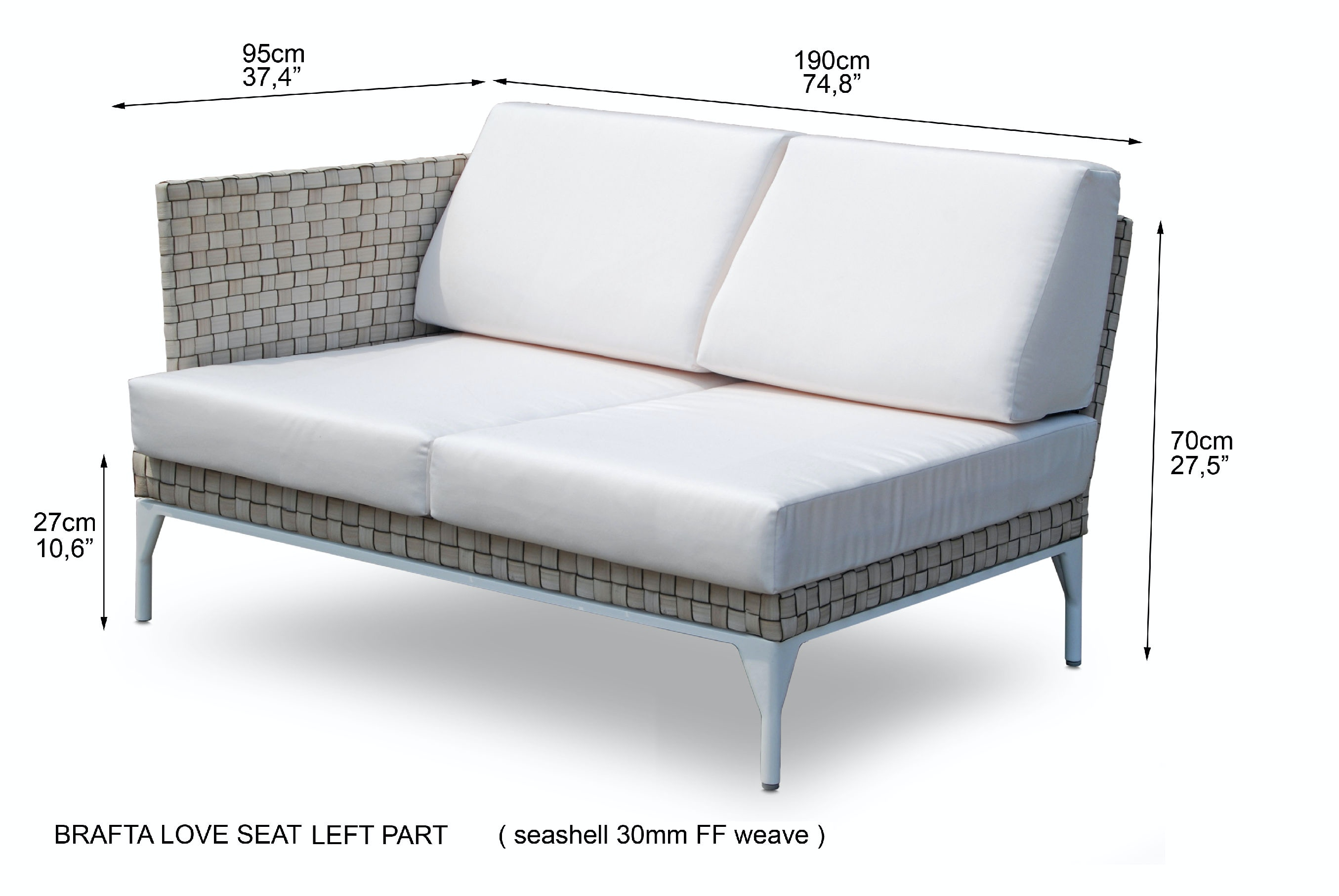 Skyline Design Brafta Left Arm Sofa