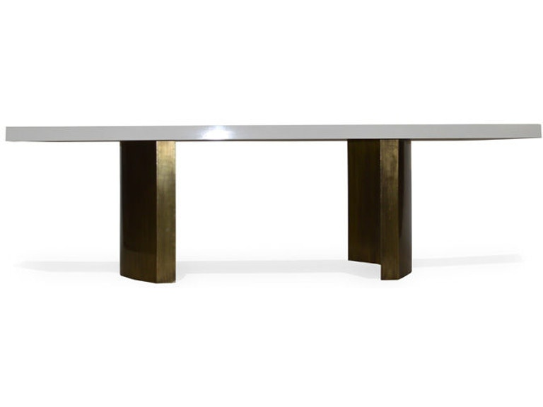 Julian Chichester Dining Room Island Dining Table Studio
