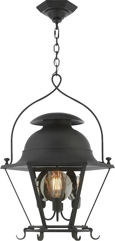 Cranbrook Small Lantern In Black Rust