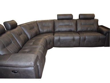 Elran Axel Condo Sectional with 3 Power Recliners 4025ACOP400