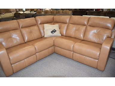 Elran Chloe Sectional with 2 Power Recliners 4047IOP