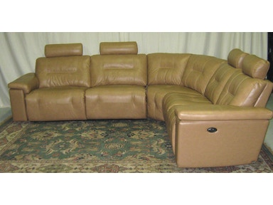 Elran Axel Power Leather Sectional--Warehouse Clearance, As is. 4025ECOPCLR