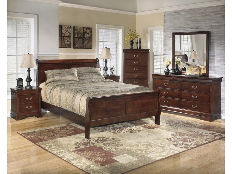 Ashley Queen Bedroom Set Dresser Mirror And 3 Pc Bed Ashley 376