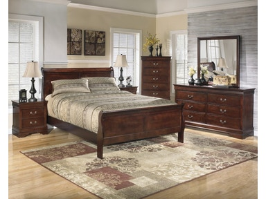 Ashley Queen Bedroom Set Dresser Mirror And 3 Pc Bed