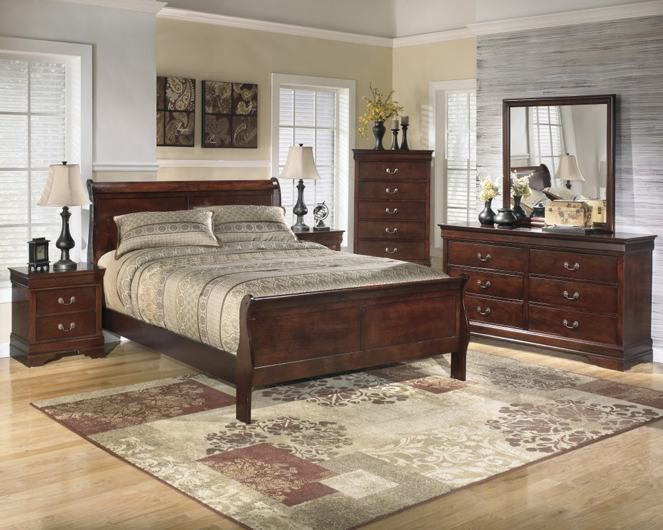 Ashley Queen Bedroom Set Dresser Mirror And 3 Pc Bed Ashley 376 Bs Turner Furniture Company