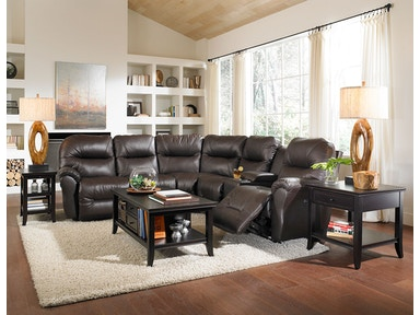 Best Bo Leather Reclining Sectional