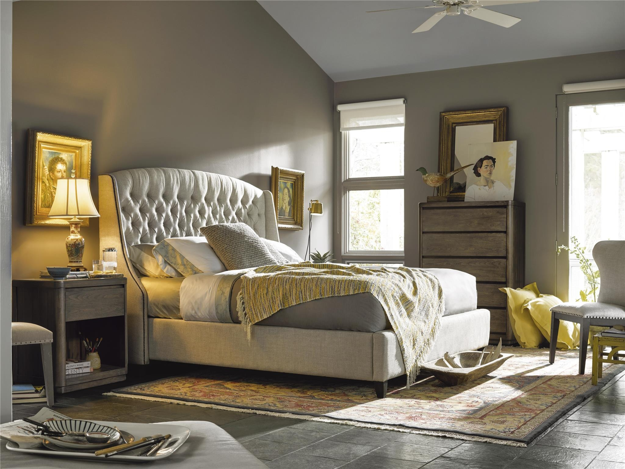 Universal Furniture Bedroom Halston Bed King (3 Pc) 552260B A At Turner  Furniture