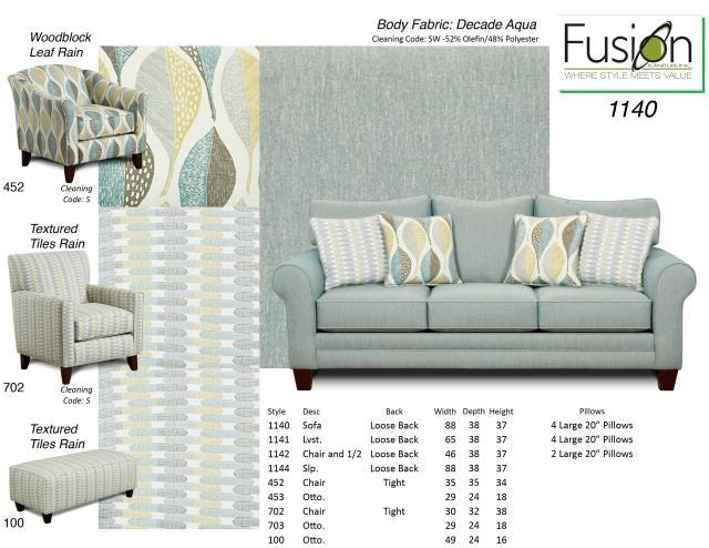 Fusion Sofa 1140 DECADE AQUA