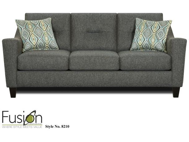 Fusion Living Room Sofa 8210 WHITAKER CARBON - Dewey ... on