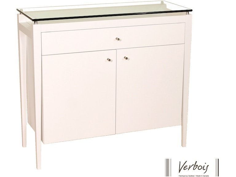 Verbois 2 Door Buffet With 1 Drawer And Glass Top NC1175000