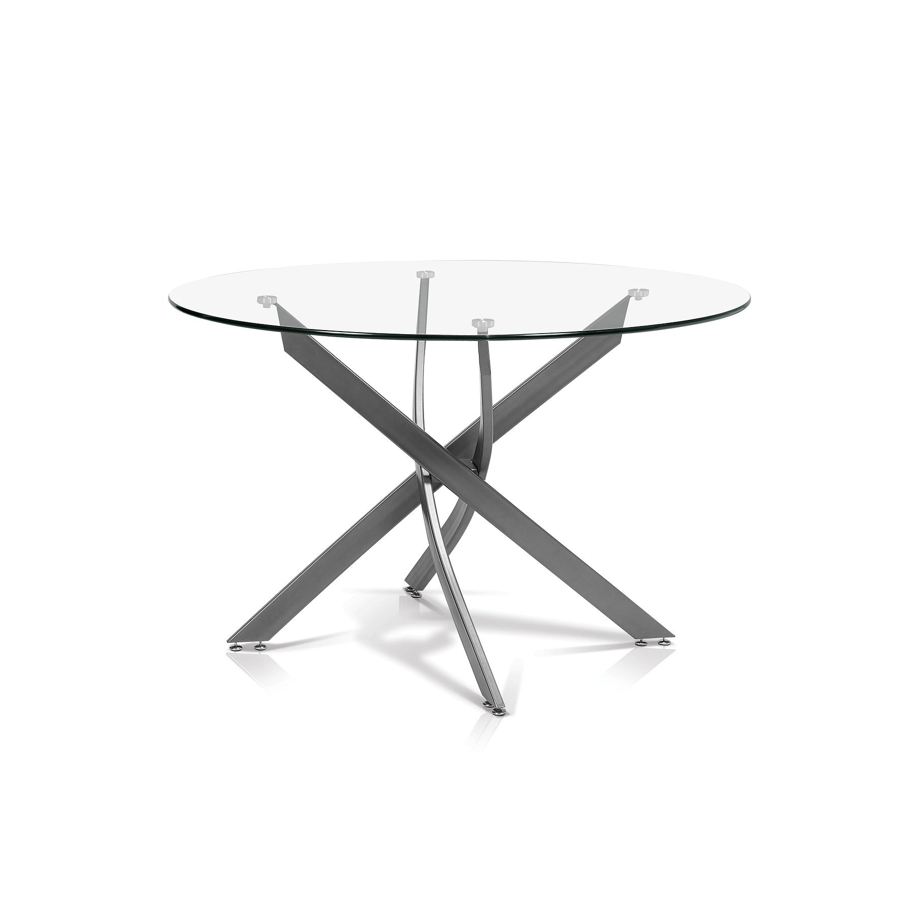 round glass dining table. Simple Round Korson Katie Round Glass Dining Table SKSD705 And