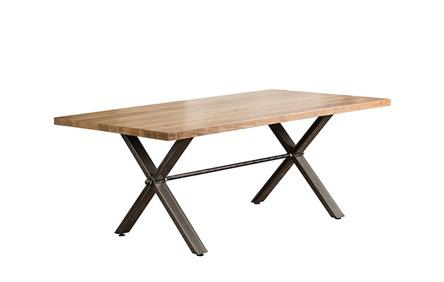Dine Art Dining Room Knowlton Table With Metal Base KT4060 At Upper Room  Home Furnishings