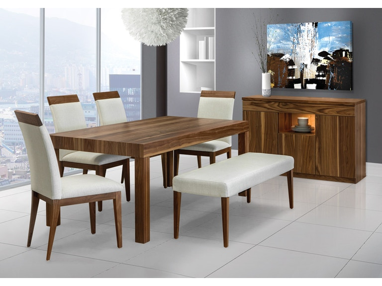 Shermag Dining Room Walnut Leg Table Walnet At Upper Home Furnishings