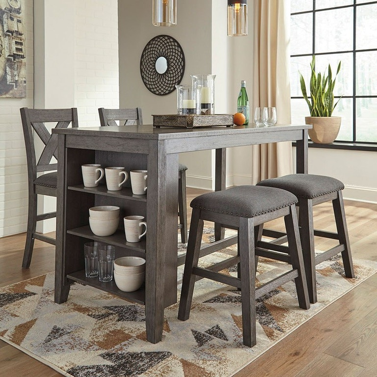 Shop Our Caitbook Storage Pub Table And 4 Stools By Signature Design By Ashley D388 5pcpub Joe