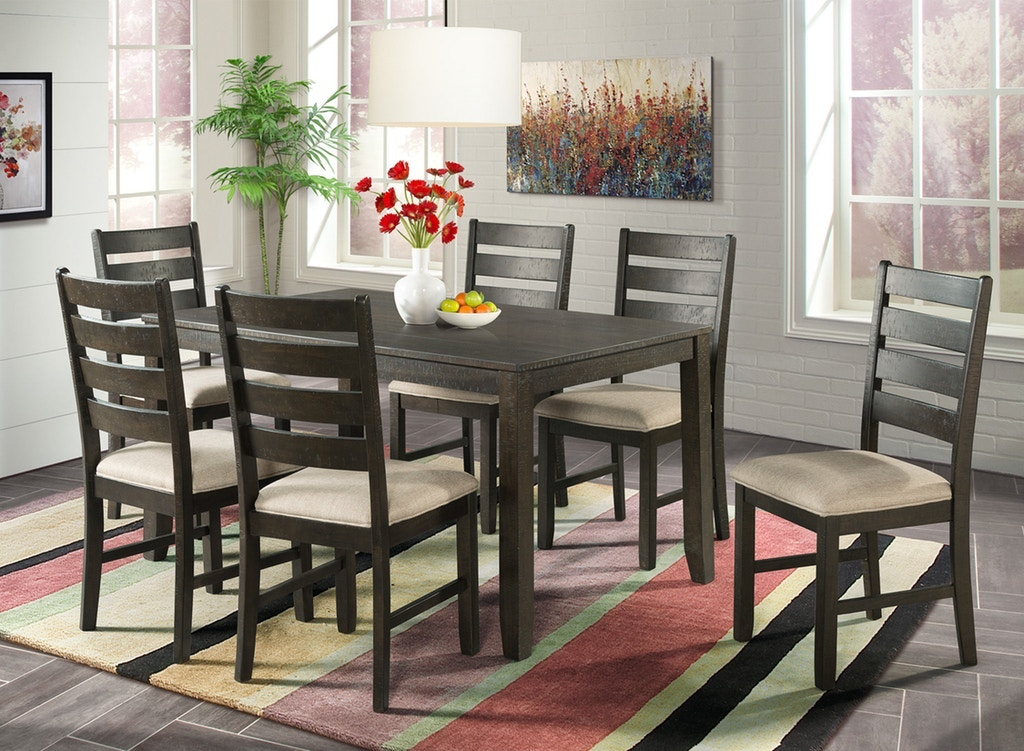 Brock Rustic Table And 6 Chairs