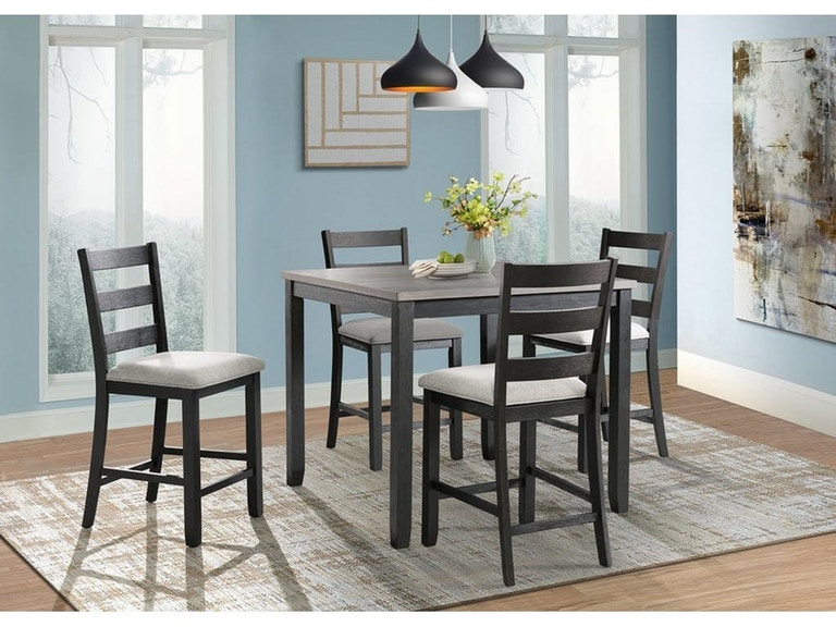 Admirable Martin Black Gray Rustic Pub Table And 4 Stools Onthecornerstone Fun Painted Chair Ideas Images Onthecornerstoneorg