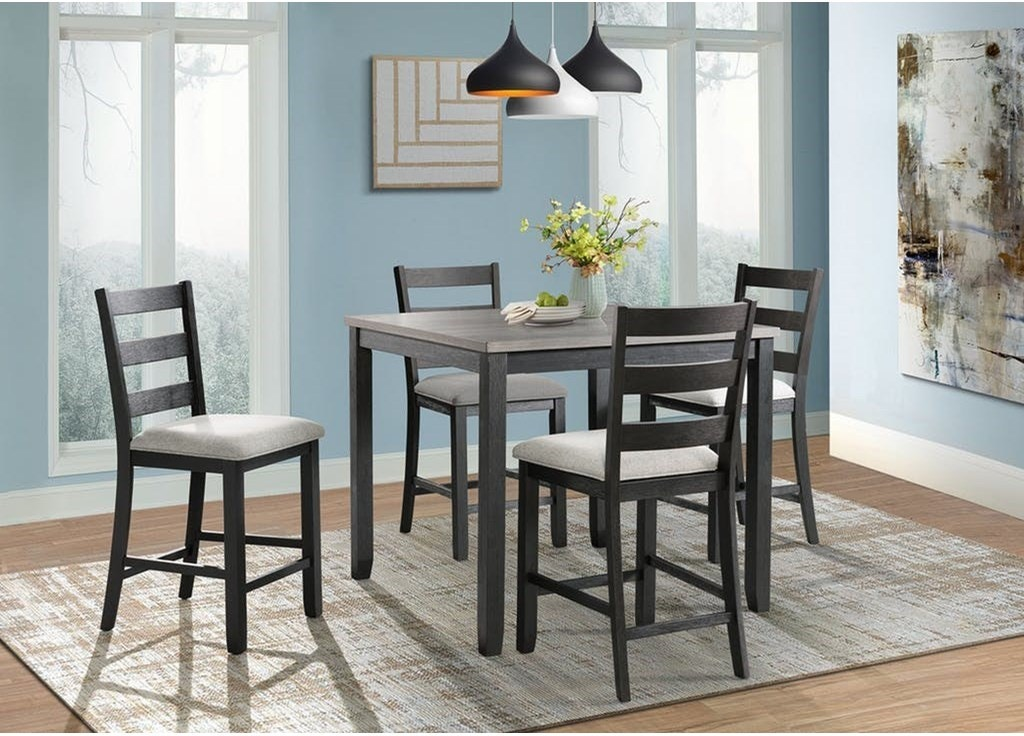 Shop Our Martin Black Gray Rustic Pub Table And 4 Stools By Elements International Dmt3005cs