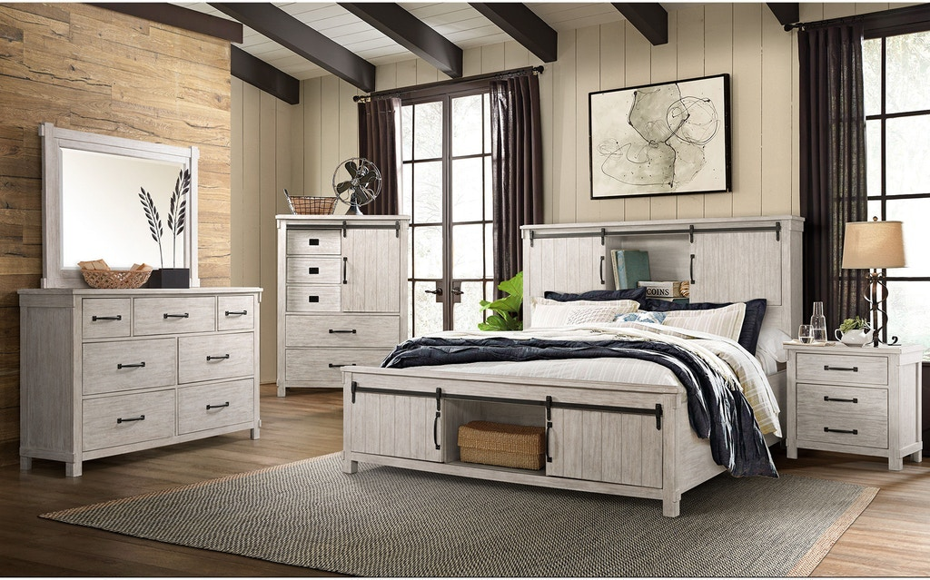 Shop Our Scott Antique White Storage Bookcase Bed Dresser Mirror And Nightstand Select Size By