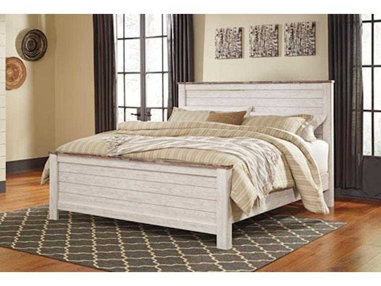 Ashley Bedroom Eastern King Panel Bed Pk B267 Ekp Evans