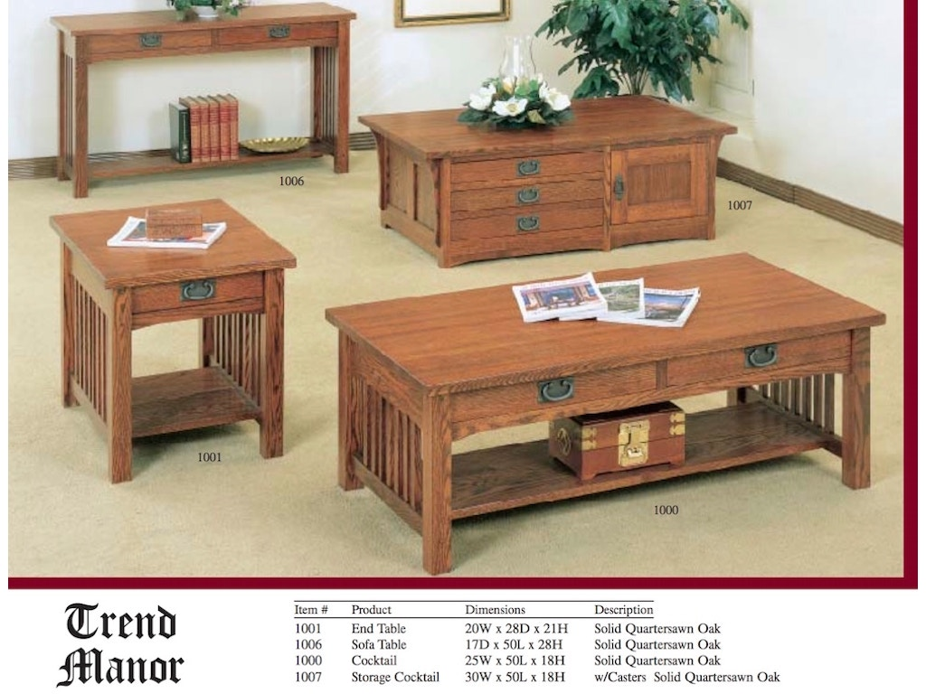 Trend manor true mission coffee table 1000 mc geotapseo Images