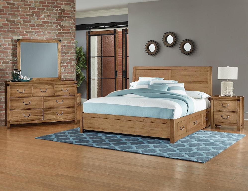 Vaughan-Bassett Furniture Company Artisan & Post Solid Maple Bedroom ...