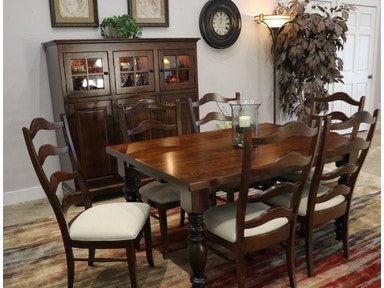 Palettes By Winesburg Includes Table W 2 Leaves And 6 Chairs Lorraine Set