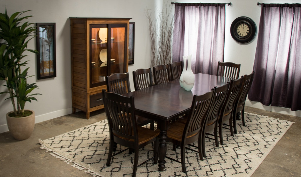 Palettes by Winesburg Solid Maple Table with 10 Chairs Holiday Set on