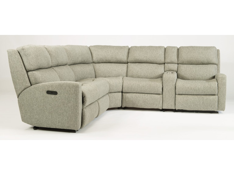 Miraculous Flexsteel Catalina 6 Piece Sectional With Power Footrest And Squirreltailoven Fun Painted Chair Ideas Images Squirreltailovenorg