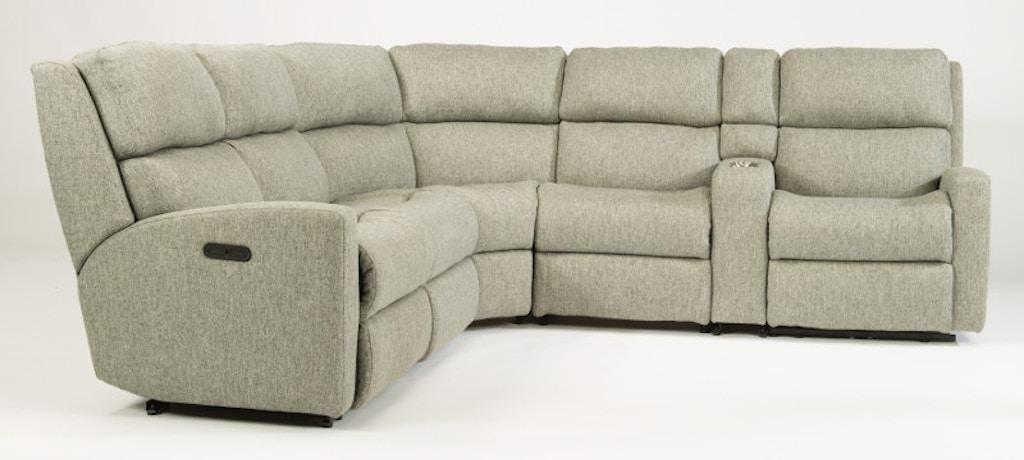 Wondrous Flexsteel Catalina 6 Piece Sectional With Power Footrest And Inzonedesignstudio Interior Chair Design Inzonedesignstudiocom