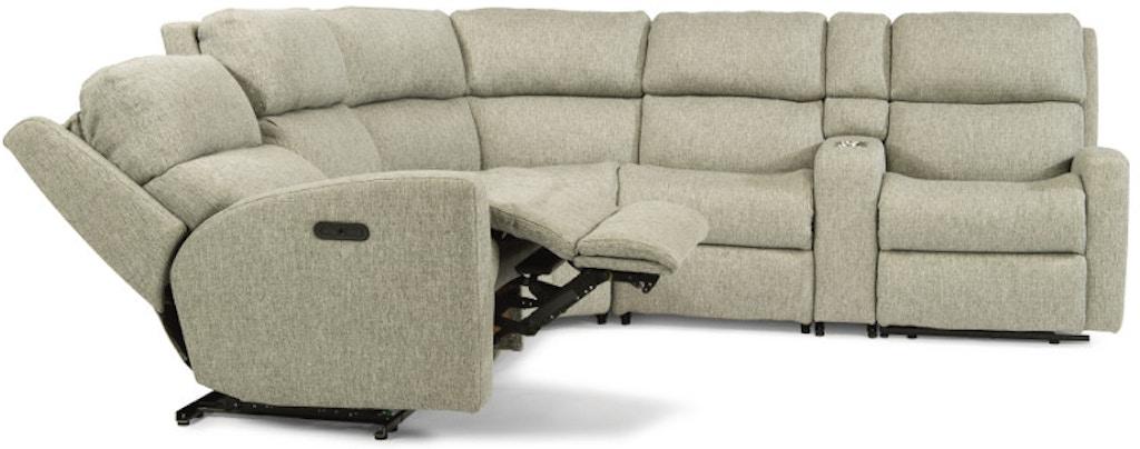 Astounding Flexsteel Catalina 6 Piece Sectional With Power Footrest And Inzonedesignstudio Interior Chair Design Inzonedesignstudiocom