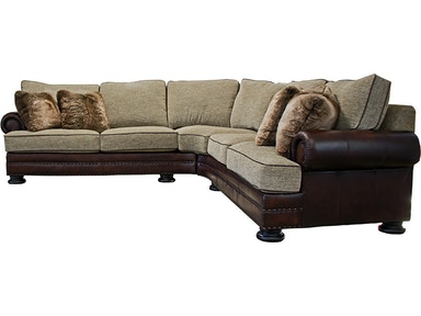 Bernhardt Foster Leather Fabric 2 Piece Sectional Foster2pc L90